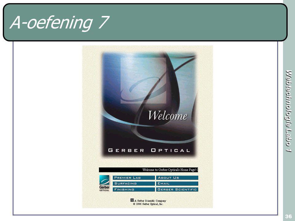 Webtechnologie Labo 1 36 A-oefening 7
