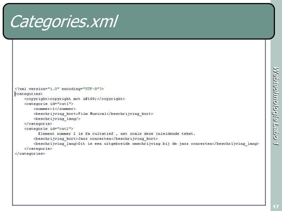 Webtechnologie Labo 1 17 Categories.xml
