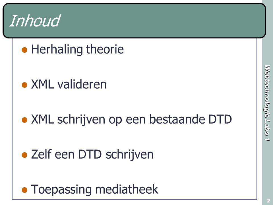 Webtechnologie Labo 1 3 Herhaling theorie, AND operator (volgorde van belang).