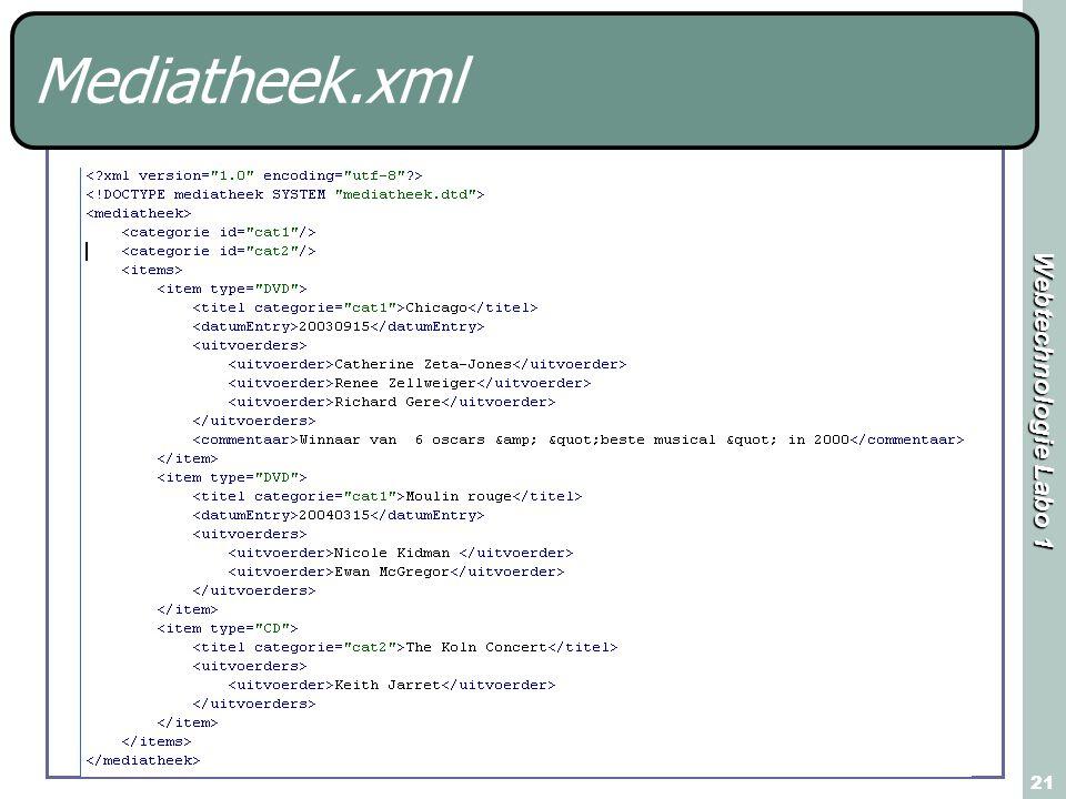 Webtechnologie Labo 1 21 Mediatheek.xml
