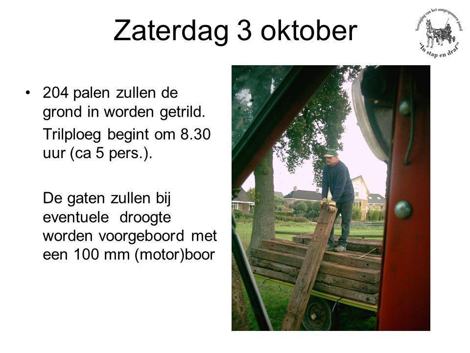 Zaterdag 3 oktober 204 palen zullen de grond in worden getrild.