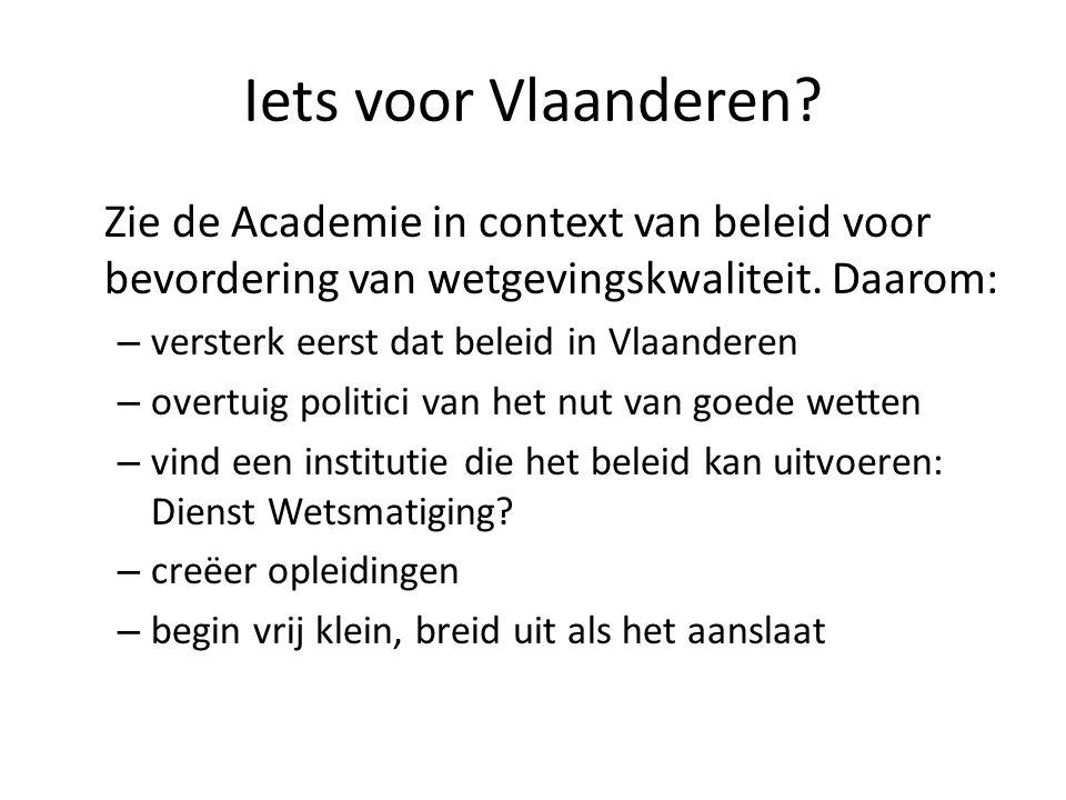 Iets voor Vlaanderen.