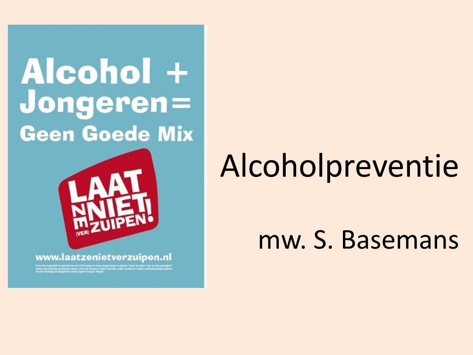 Alcoholpreventie mw. S. Basemans