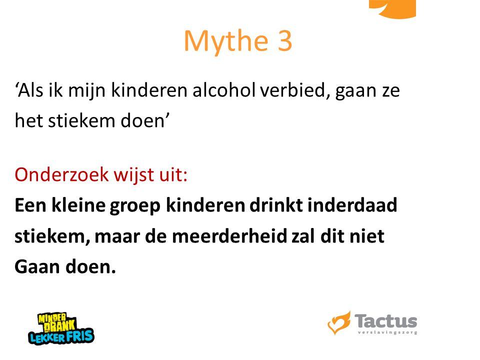 'Als ik mijn kinderen alcohol verbied, gaan ze het stiekem doen' Onderzoek wijst uit: Een kleine groep kinderen drinkt inderdaad stiekem, maar de meer