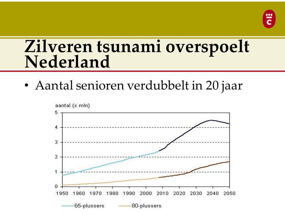 Zilveren tsunami overspoelt Nederland Aantal senioren verdubbelt in 20 jaar