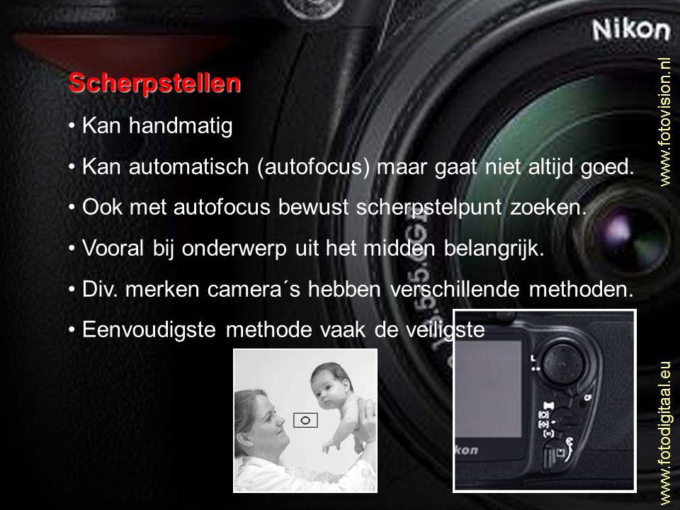 Gevoeligheid ASA of DIN Hetzelfde als bij de analoge films.