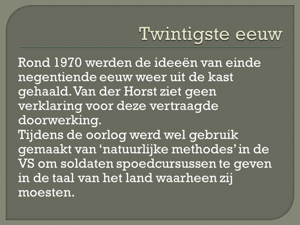 Rond 1970 werden de ideeën van einde negentiende eeuw weer uit de kast gehaald.