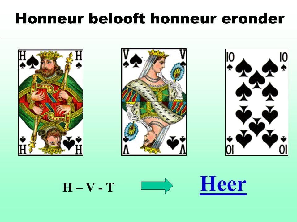 Honneur belooft honneur eronder H – V - T Heer