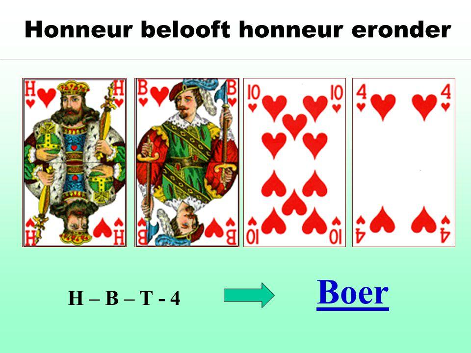 Honneur belooft honneur eronder H – B – T - 4 Boer