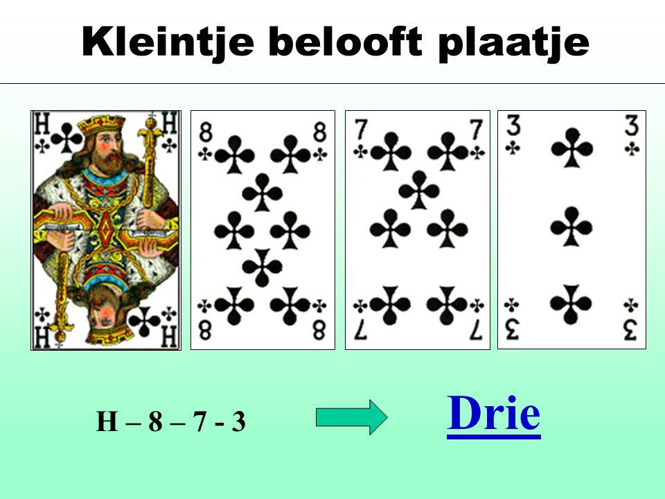 Kleintje belooft plaatje H – 8 – 7 - 3 Drie