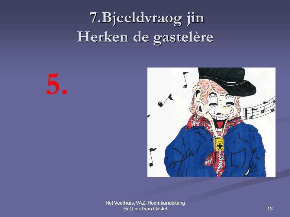 13 Het Veerhuis, VAZ, Heemkundekring Het Land van Gastel 7.Bjeeldvraog jin Herken de gastelère 7.Bjeeldvraog jin Herken de gastelère 5.