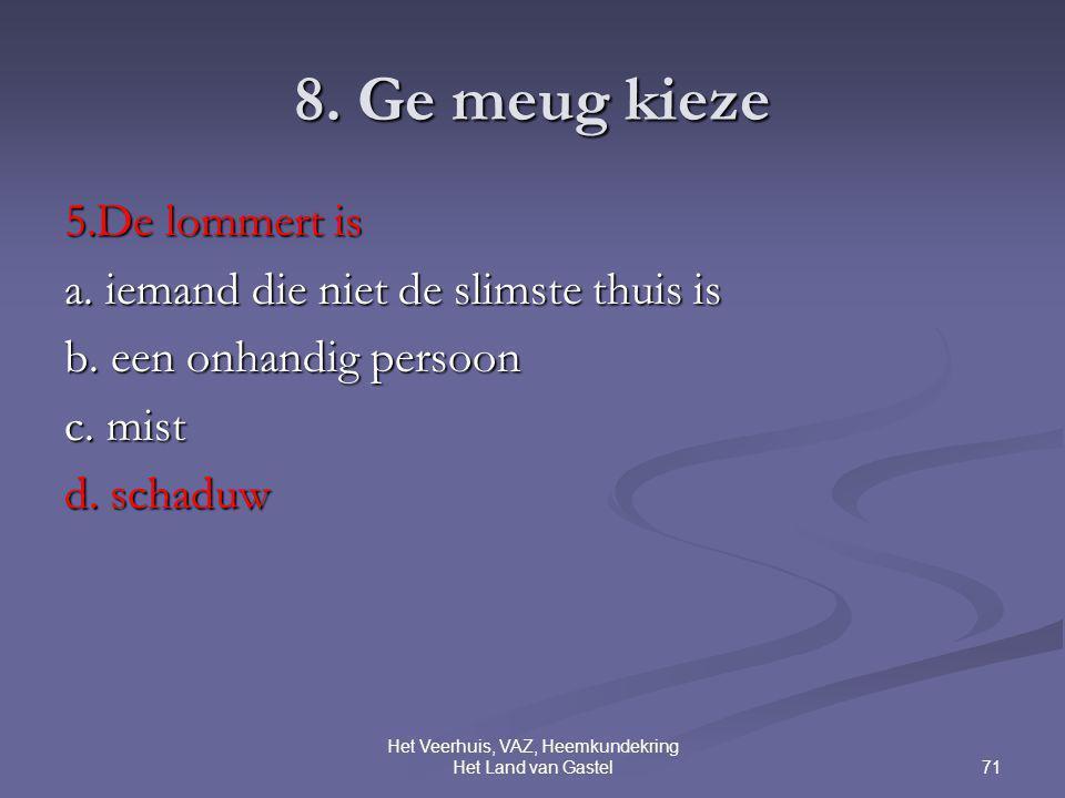 71 Het Veerhuis, VAZ, Heemkundekring Het Land van Gastel 8.