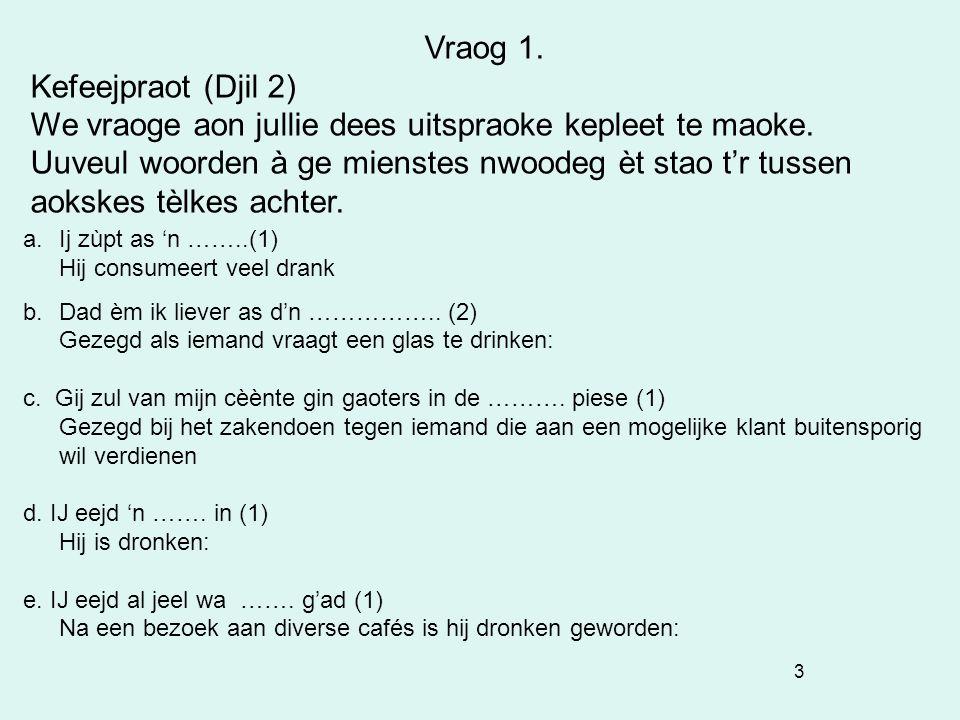 44 Vraog 4. Bjééldvraog: H Steenstraat