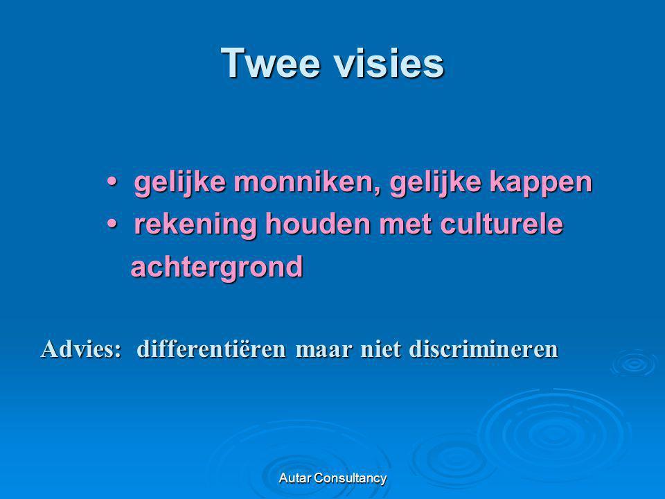 Autar Consultancy Twee visies gelijke monniken, gelijke kappen gelijke monniken, gelijke kappen rekening houden met culturele rekening houden met cult