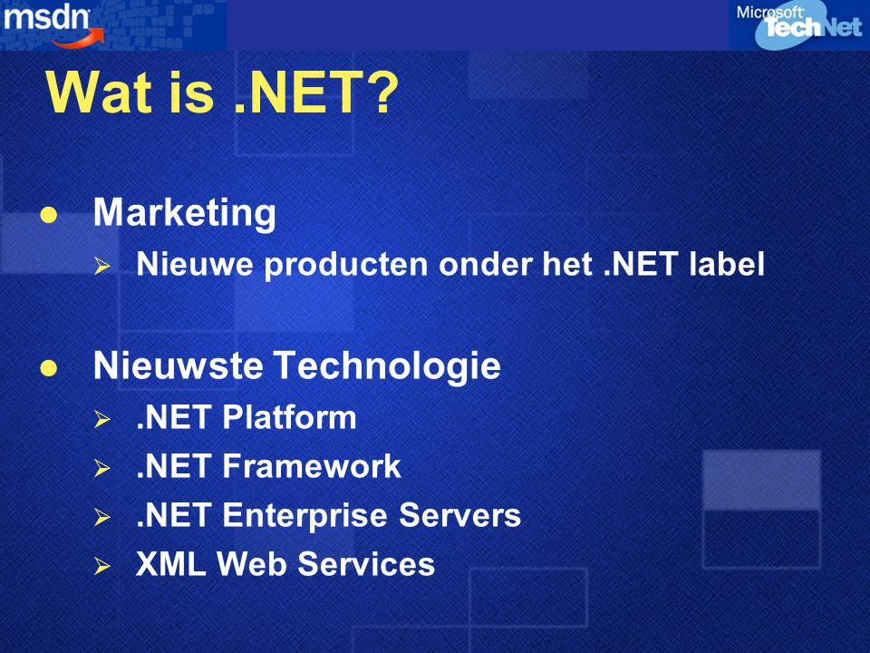 Wat is.NET.