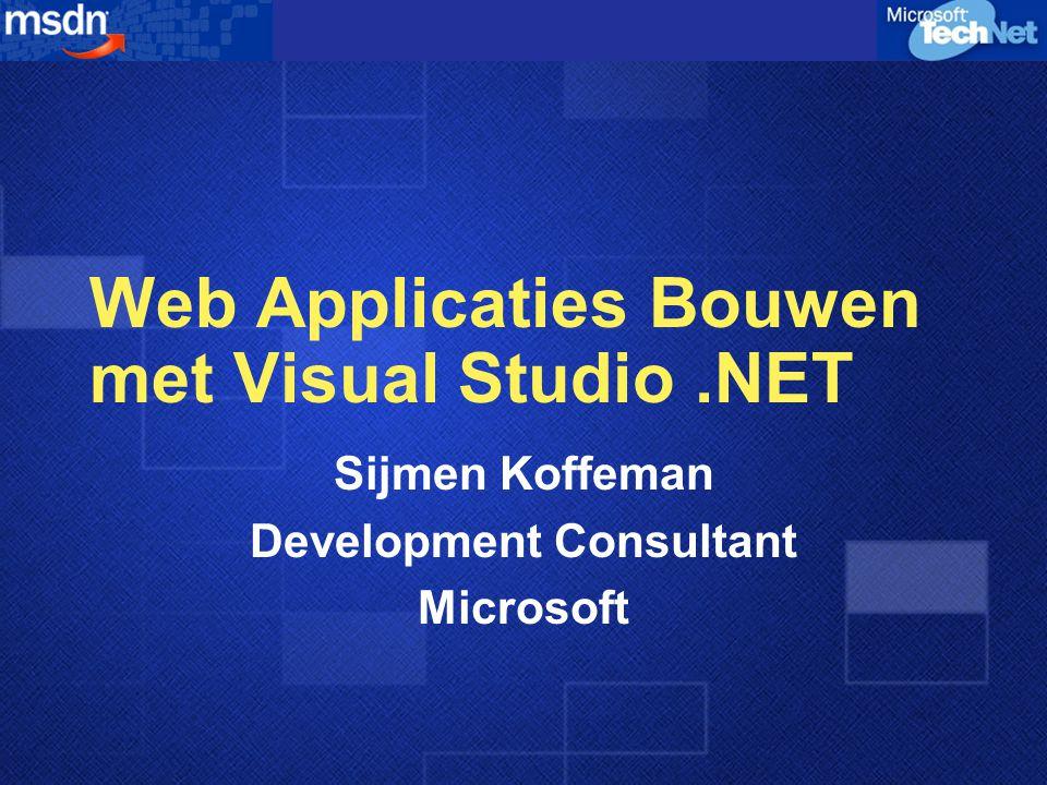 Agenda Wat is dot NET ? Web Forms ASP.NET Beveiliging Caching