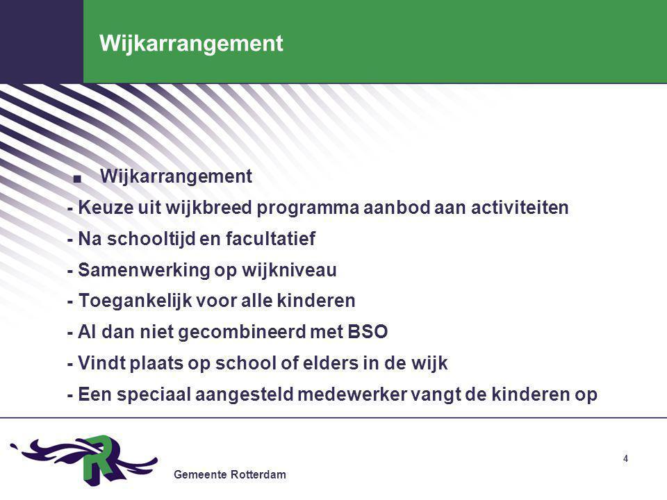 Gemeente Rotterdam 5 Dagarrangement.
