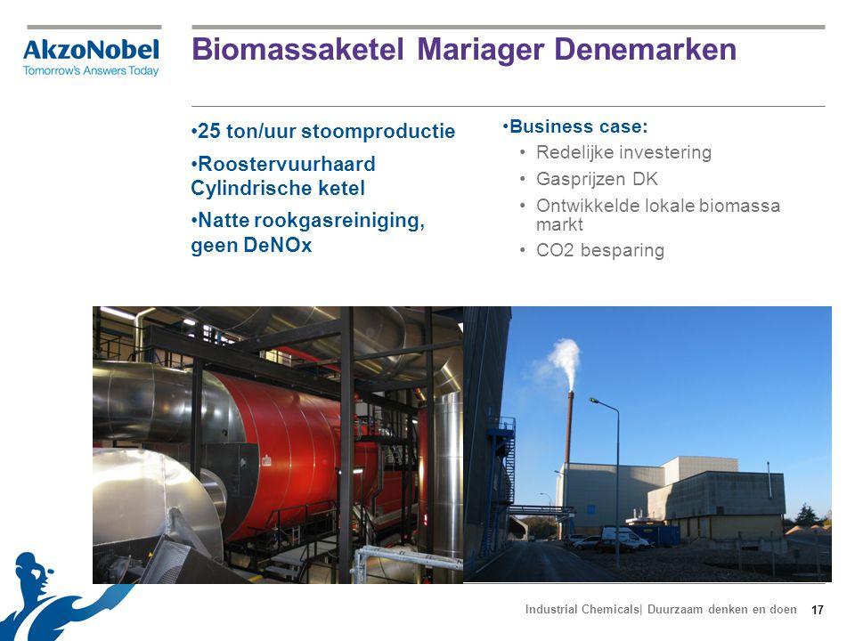 Stoomlevering Delfzijl vanuit EEW Max 60 ton/uur 22 bar Warmtelevering: EON Energy from Waste (EEW) Common Carrier Stoomleiding: Groningen Seaports (GSP) Ca 2 km (GSP) + 500 m (AN) 18 Business case AkzoNobel: Grootste deel investering: GSP Besparing op gaskosten CO2 besparing Industrial Chemicals| Duurzaam denken en doen