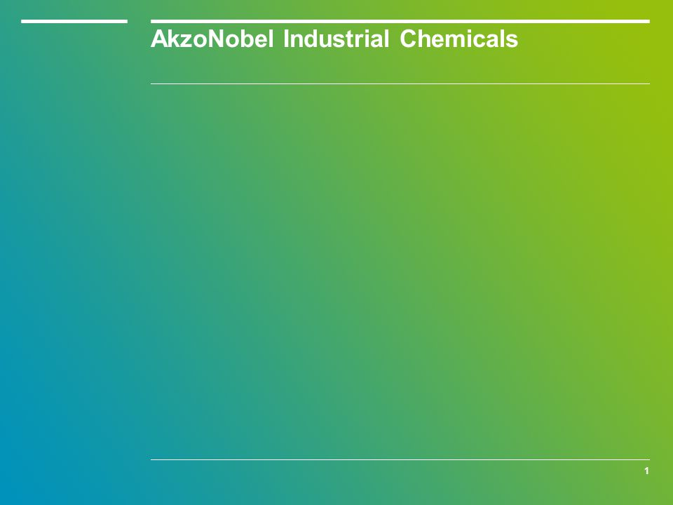 1 AkzoNobel Industrial Chemicals