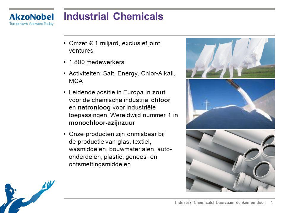 44 Het business model van Industrial Chemicals Industrial Chemicals| Duurzaam denken en doen