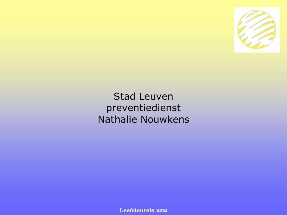 Stad Leuven preventiedienst Nathalie Nouwkens