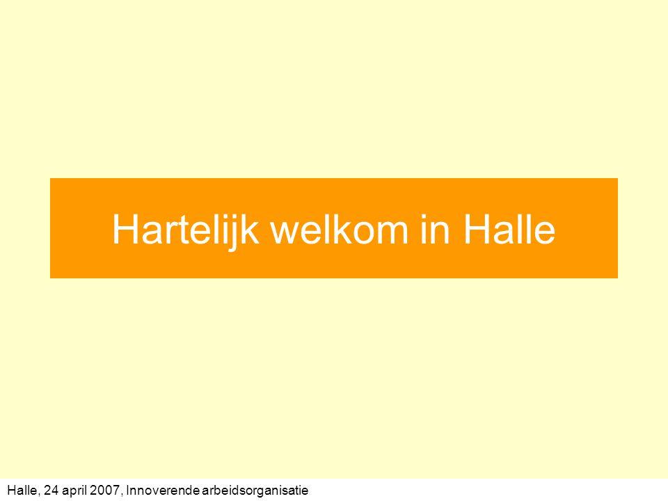 Halle, 24 april 2007, Innoverende arbeidsorganisatie Hartelijk welkom in Halle
