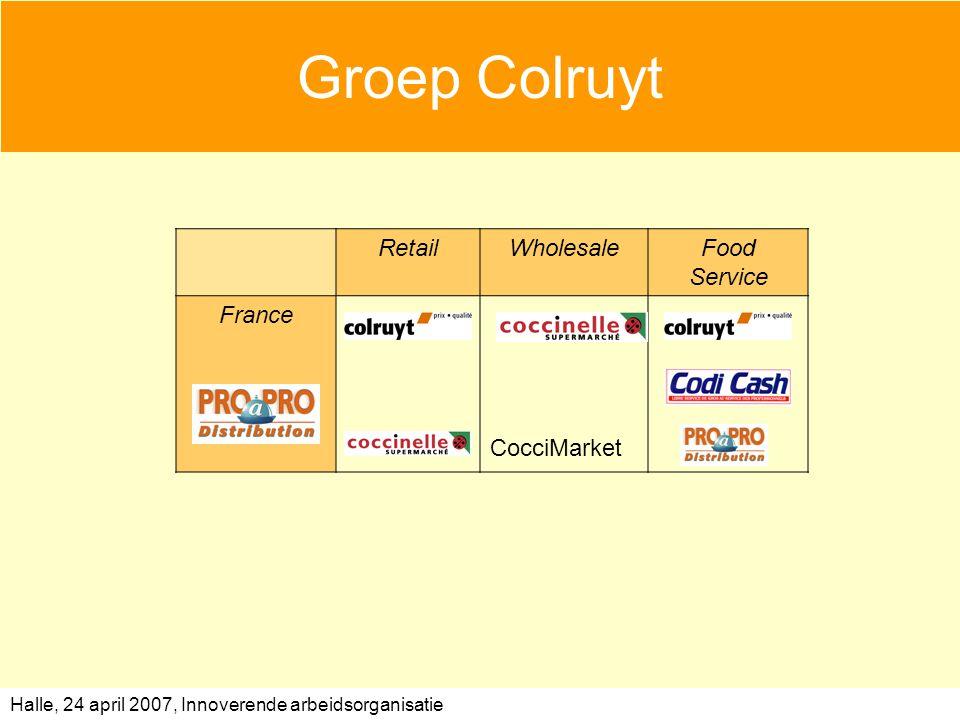 Halle, 24 april 2007, Innoverende arbeidsorganisatie Groep Colruyt RetailWholesaleFood Service France CocciMarket