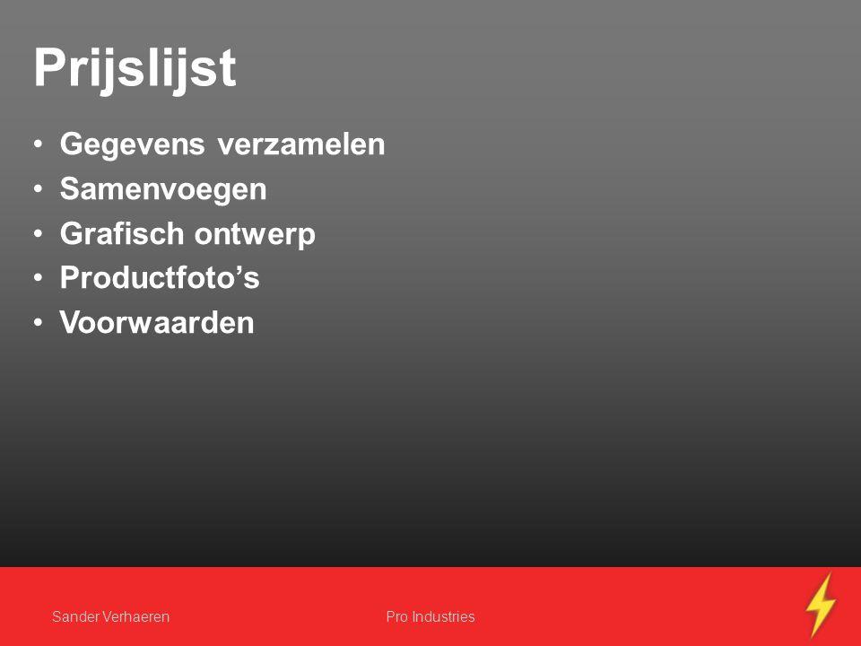 Website voorbeeld Achtergrond Banner CSS Hyperlinks Sander VerhaerenPro Industries