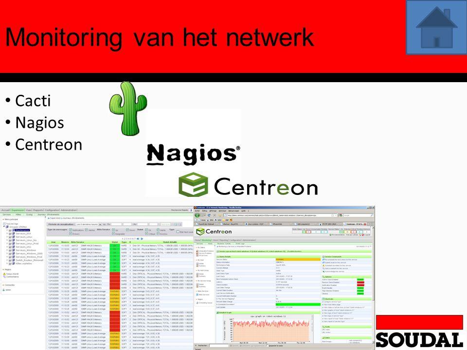 Monitoring van het netwerk Cacti Nagios Centreon
