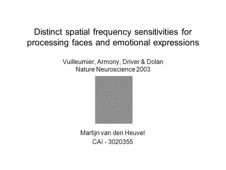 Methode MRI scanner 482 scans x 3.17sec per persoon BOLD Data-analyse met SPM99 Normaalverdeling uit t-statistiek Eye-tracking ( 200ms voor onset tot 200ms na onset)