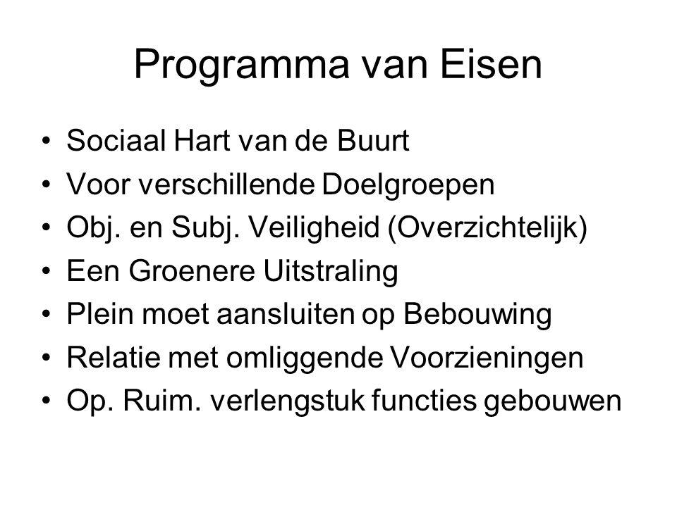Programma van Eisen Sociaal Hart van de Buurt Voor verschillende Doelgroepen Obj.