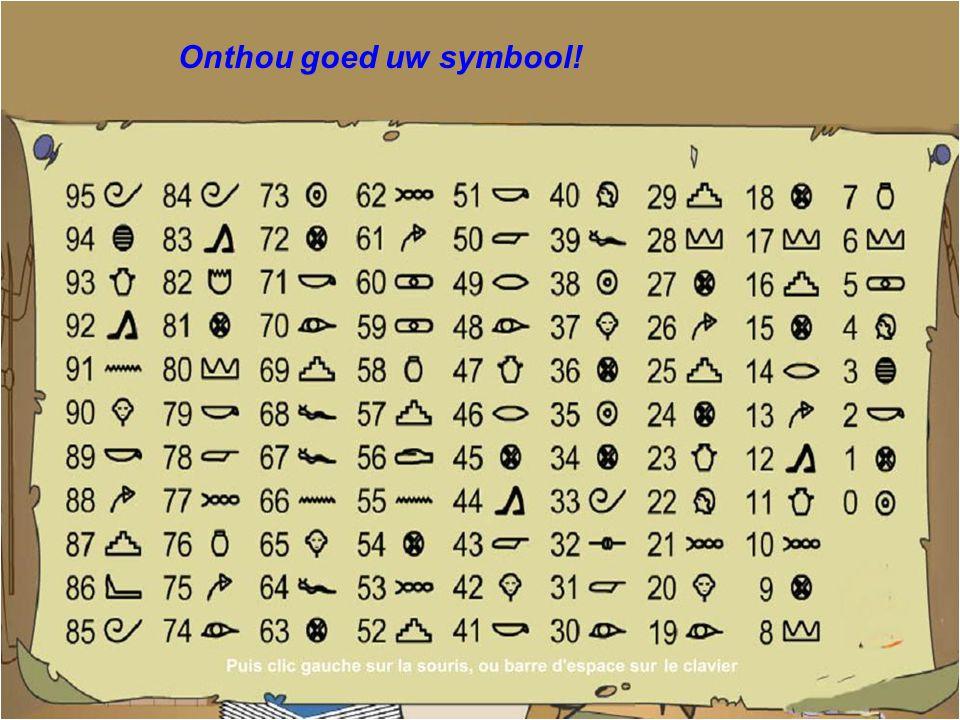 Onthou het symbool overeenstemmend met uw getal... ?