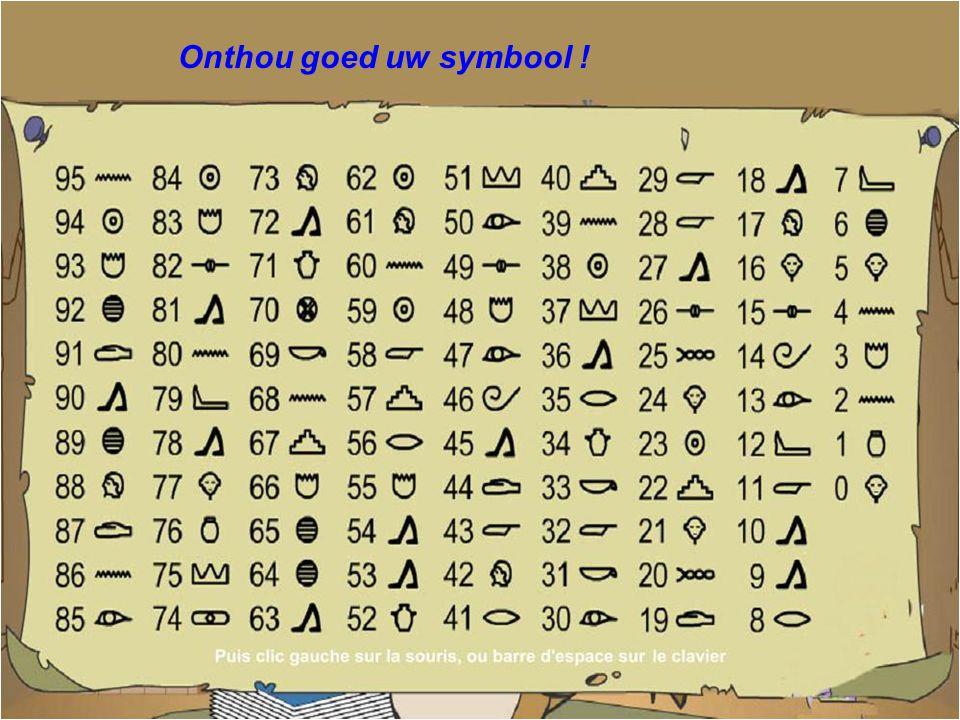 Kijk naar het symbool overeenstemmend met uw getal... ?