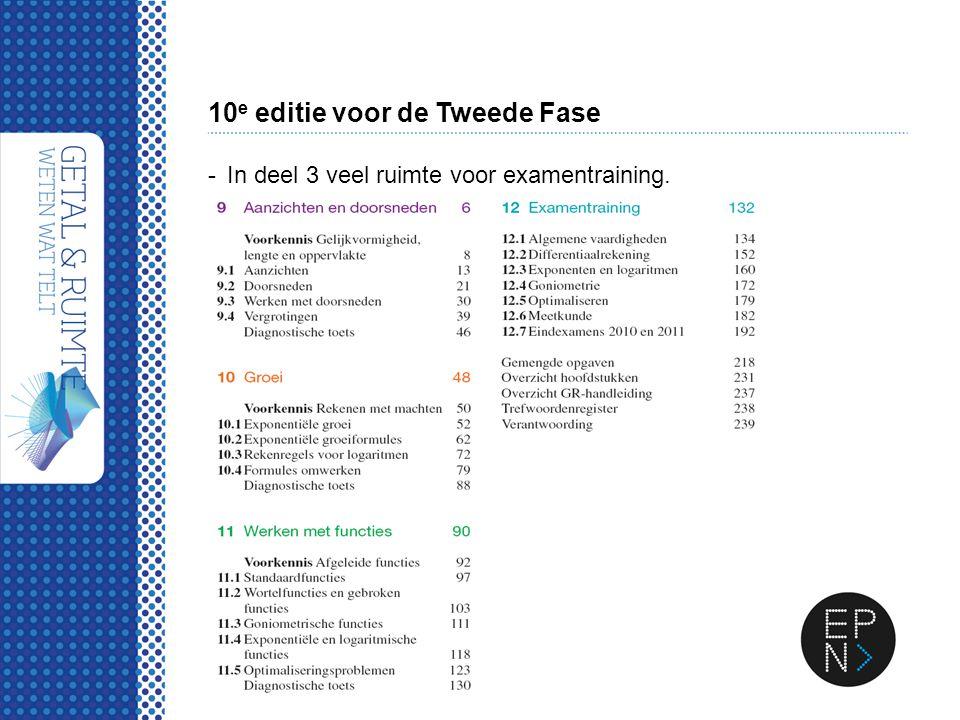 10 e editie voor de Tweede Fase -In deel 3 veel ruimte voor examentraining.