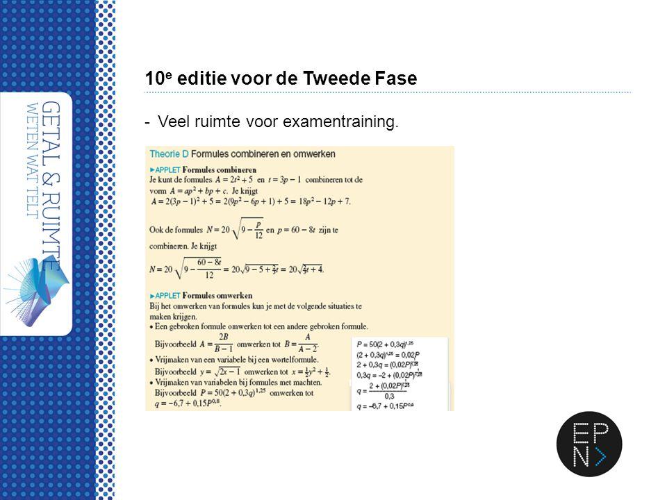 10 e editie voor de Tweede Fase -Veel ruimte voor examentraining.