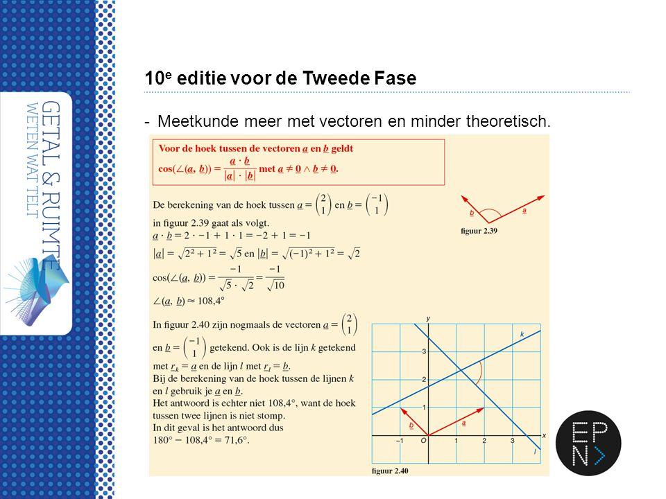 10 e editie voor de Tweede Fase -Meetkunde meer met vectoren en minder theoretisch.