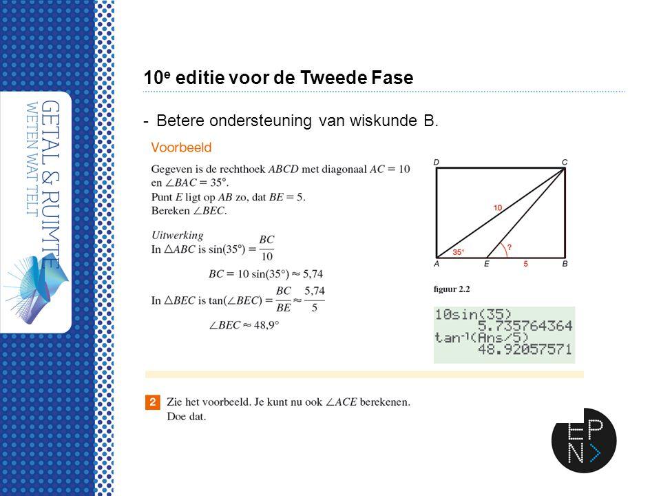 10 e editie voor de Tweede Fase -Betere ondersteuning van wiskunde B.