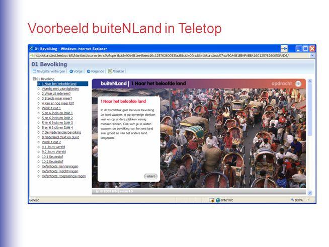 Voorbeeld buiteNLand in Teletop