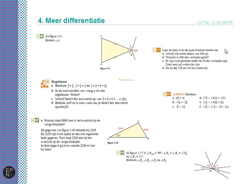 4. Meer differentiatie