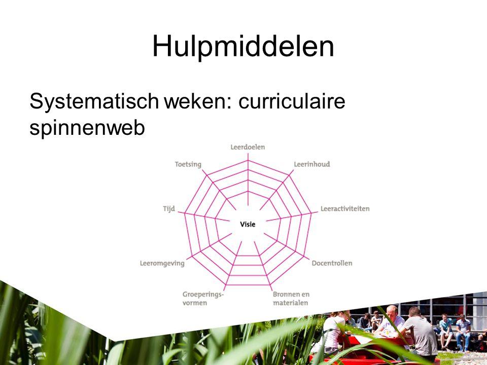 Hulpmiddelen Systematisch weken: curriculaire spinnenweb