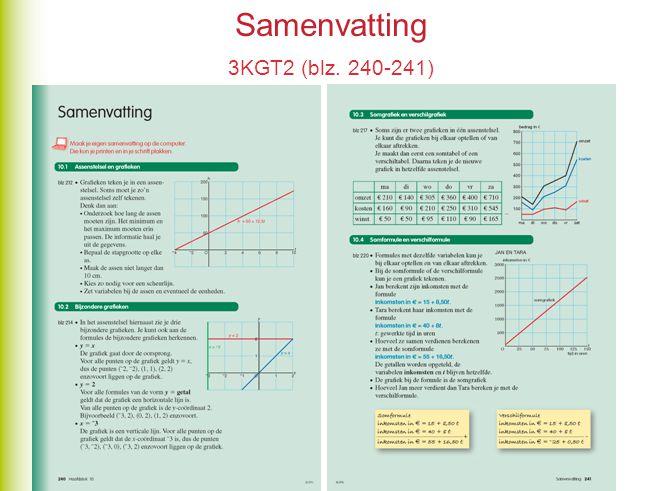 Samenvatting 3KGT2 (blz. 240-241)