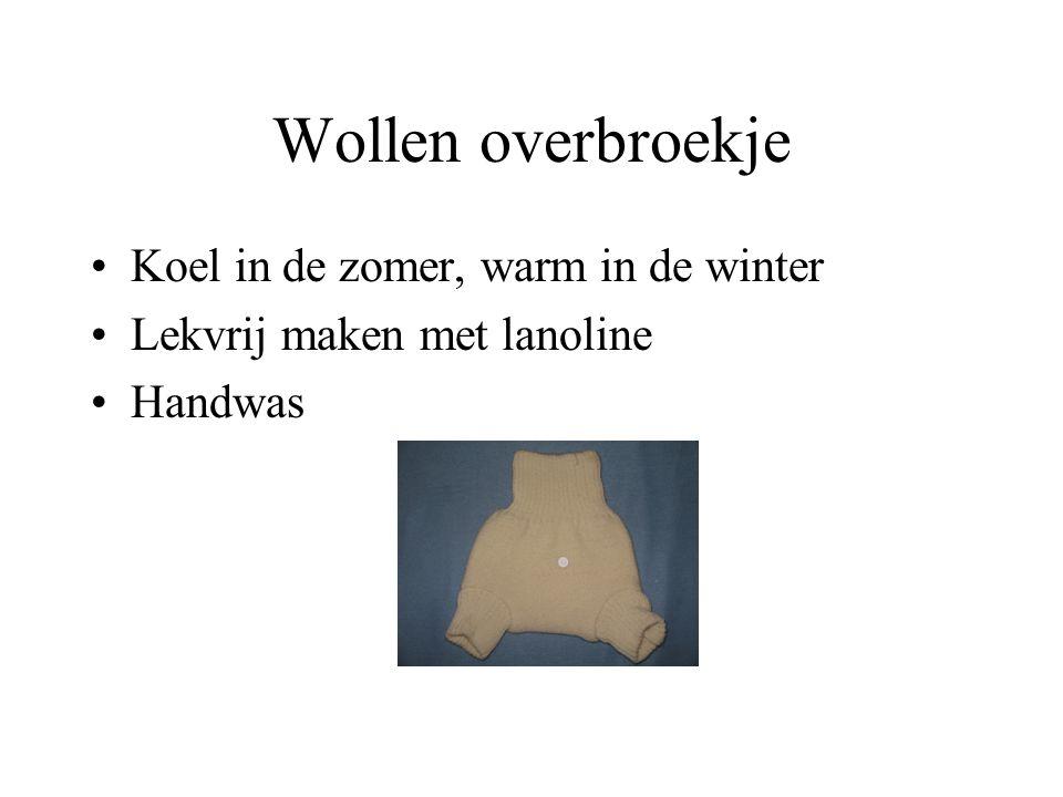 Wollen overbroekje Koel in de zomer, warm in de winter Lekvrij maken met lanoline Handwas