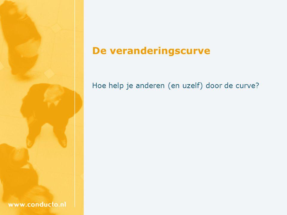 De veranderingscurve Hoe help je anderen (en uzelf) door de curve?