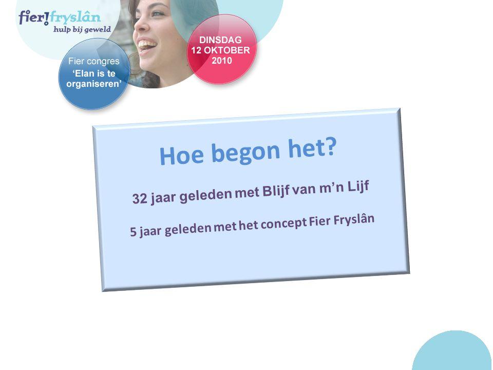 Hoe begon het 32 jaar geleden met Blijf van m'n Lijf 5 jaar geleden met het concept Fier Fryslân