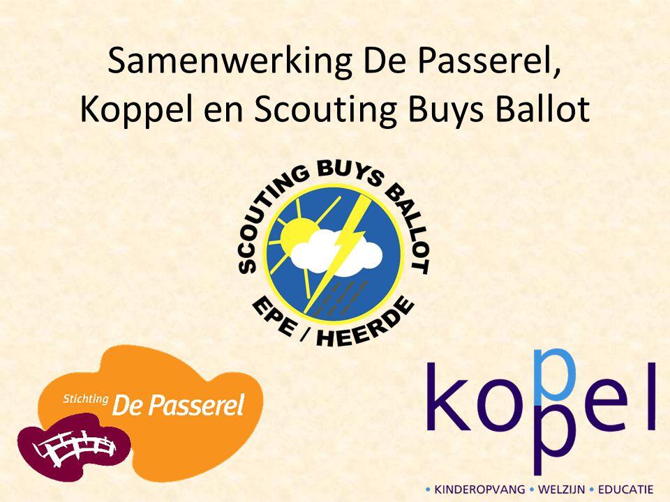 Scouting Buys Ballot Actief in Epe en Heerde sinds 1945 Wereldwijd actief in 160 landen Grootste jeugdorganisatie in Nederland Kernwaarden: samen, outdoor en uitdaging Respect voor elkaar en de natuur