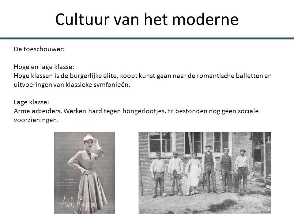 Cultuur van het moderne De toeschouwer: Hoge en lage klasse: Hoge klassen is de burgerlijke elite, koopt kunst gaan naar de romantische balletten en u