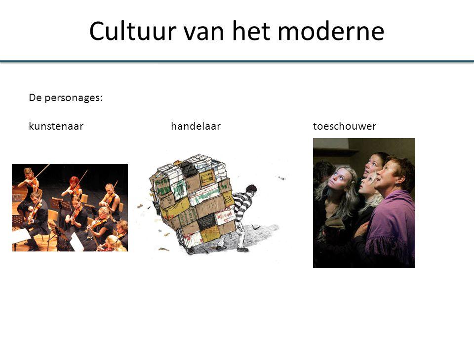 Cultuur van het moderne De personages: kunstenaarhandelaar toeschouwer