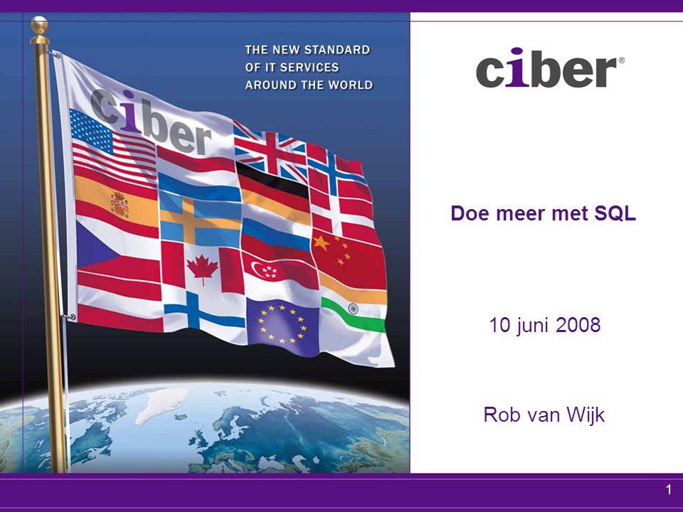 1 Doe meer met SQL 10 juni 2008 Rob van Wijk