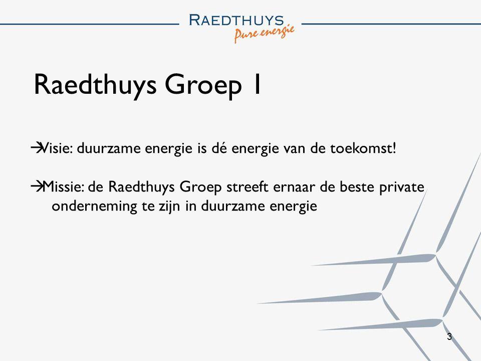 4 Raedthuys Groep 2 De Raedthuys Groep is een keten van ondernemingen in duurzame energie.
