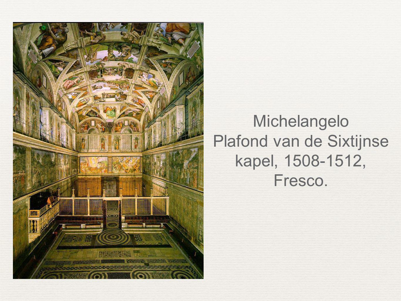 Michelangelo Plafond van de Sixtijnse kapel, 1508-1512, Fresco.